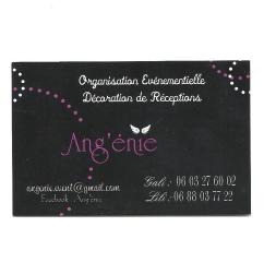 Carte de visite événementielle Ang'énie